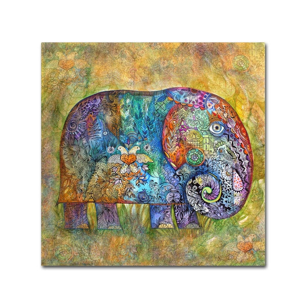 Oxana Ziaka 'Runes Elephant' Canvas Art 27044497