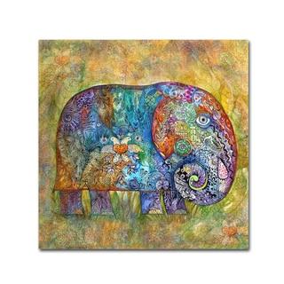 Oxana Ziaka 'Runes Elephant' Canvas Art