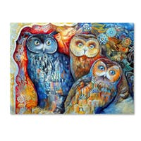 Oxana Ziaka 'Owls' Canvas Art