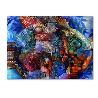 Oxana Ziaka 'Fish' Canvas Art