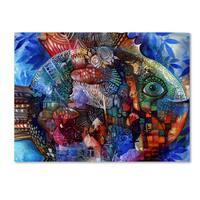 Oxana Ziaka 'Fish' Canvas Art