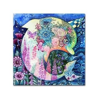 Oxana Ziaka 'Dolphin' Canvas Art