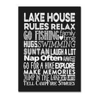 Marcee Duggar 'Lake House Rules' Canvas Art