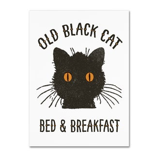 Marcee Duggar 'Old Black Cat' Canvas Art