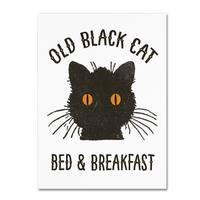 Marcee Duggar 'Old Black Cat' Canvas Art