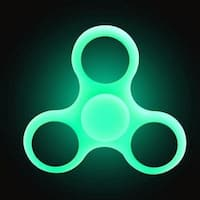 Glowing Fingertip Spinner Spiral Hand Spinner Decompression Toy Green Fluorescence
