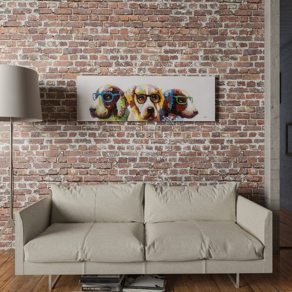 Shop Yosemite Home Decor 'Cool Dogs' Original Hand-painted ...