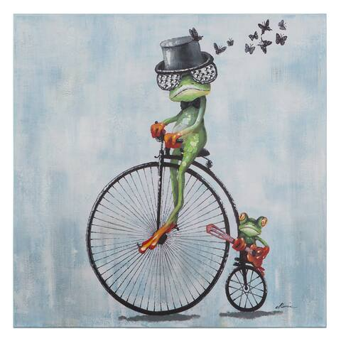 Yosemite Home Décor Cyclist Original Hand-Painted Wall Art - multi