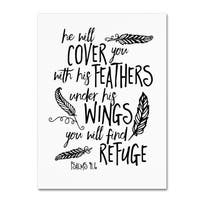 Marcee Duggar 'Cover You With Feathers' Canvas Art