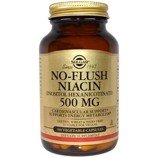 Solgar No-Flush Niacin 500 mg (100 Capsules)