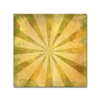 Marcee Duggar 'Yellow Sunburst Grunge' Canvas Art