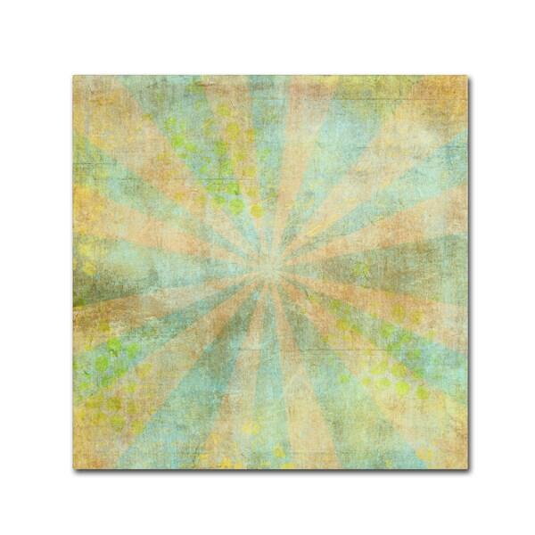 Marcee Duggar 'Teal Sunburst Grunge' Canvas Art