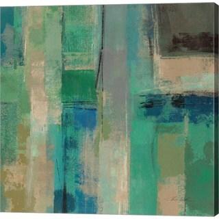 Silvia Vassileva 'Emerald Fields Square II' Canvas Art