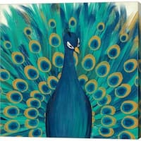 Veronique Charron 'Proud as a Peacock I' Canvas Art
