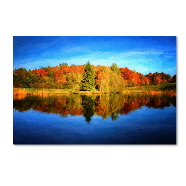 Philippe Sainte-Laudy 'Autumn Mirror' Canvas Art