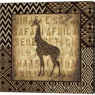 Wild Apple Portfolio 'African Wild Giraffe Border' Canvas Art