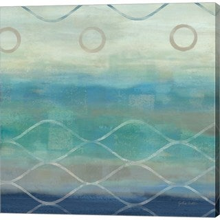 Cynthia Coulter 'Abstract Waves Blue/Grey II' Canvas Art