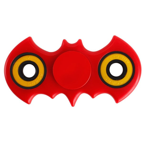Batman Shape 360 Fidget Spinner Helps focusing EDC Focus Toy - Stress Reducer relieves ADHD Anxiety Boredom (RED) - Red