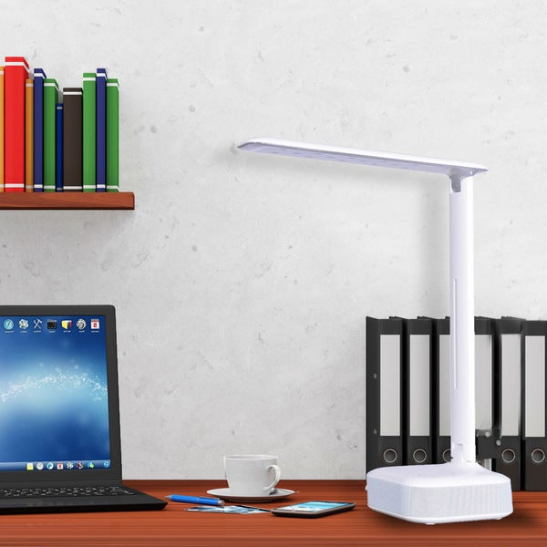 Catalina Lighting Forte 20099-000 Blue Tooth Speaker LED Desk Lamp