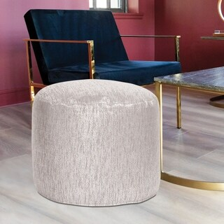 Tall Pouf Glam Sand