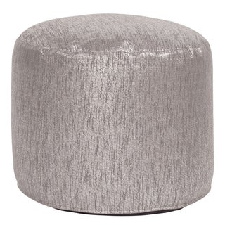 Tall Pouf Glam Pewter