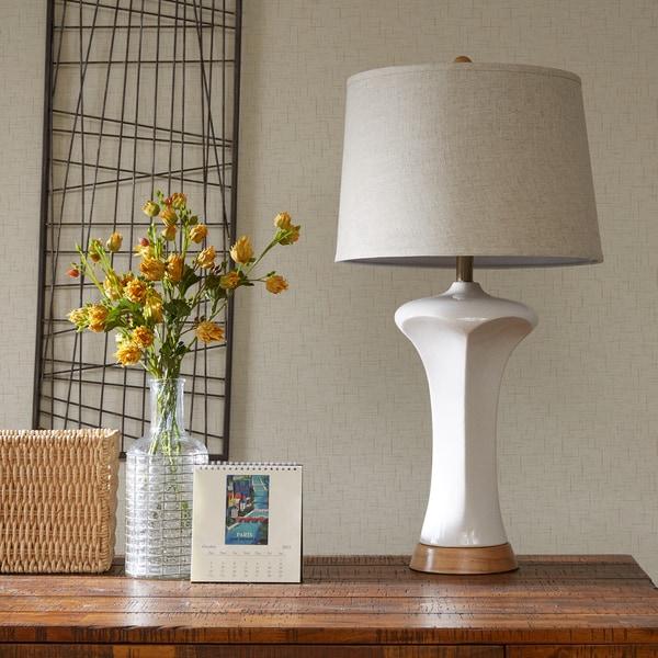 INK+IVY Carlisle White Table Lamp