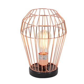 Caged Structure Metal Accent Light With Bulb