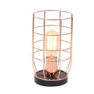 Copper Metal Accent Light With Bulb