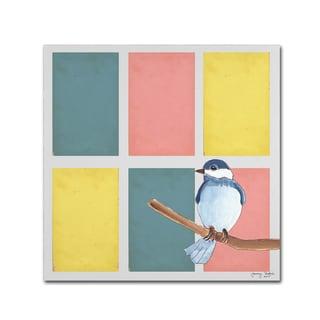 Tammy Kushnir 'Rectangles And Blue Bird' Canvas Art