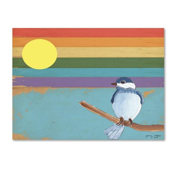 Tammy Kushnir 'Rainbow And Bird' Canvas Art