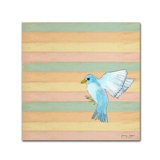Tammy Kushnir 'Flying Blue Bird' Canvas Art