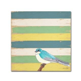 Tammy Kushnir 'Little Blue Bird' Canvas Art