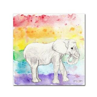 Tammy Kushnir 'Rainbow Elephant' Canvas Art