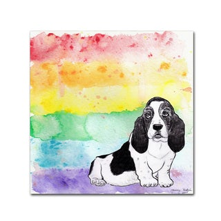 Tammy Kushnir 'Rainbow Basset Hound' Canvas Art