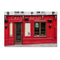 Cora Niele 'Restaurant Chez Marie' Canvas Art