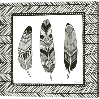 Sara Zieve Miller 'Geo Feathers Square II' Canvas Art