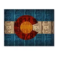 Design Turnpike 'Colorado State Flag License Plates' Canvas Art