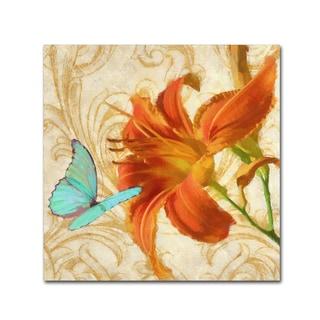 Tina Lavoie 'Satsuma Day Lily I' Canvas Art