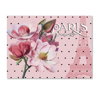 Tina Lavoie 'Paris Magnolias I' Canvas Art
