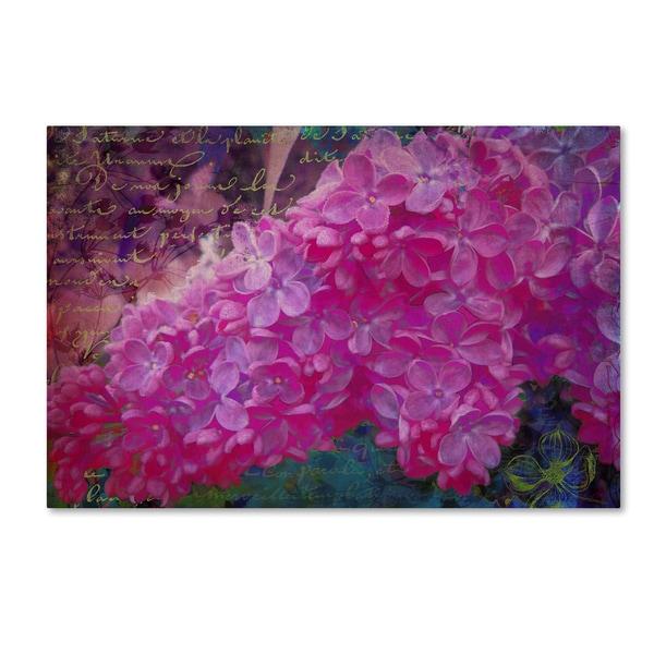 Tina Lavoie 'Vintage Lilacs' Canvas Art
