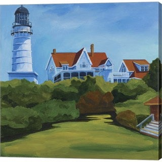 Catherine Breer 'House At Two Lights' Canvas Art
