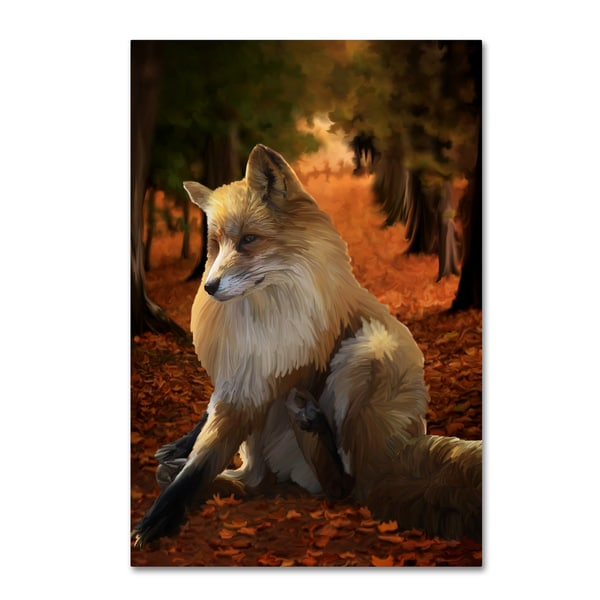 Tina Lavoie 'Fall Fox' Canvas Art