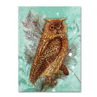 Tina Lavoie 'Snowy Owl' Canvas Art