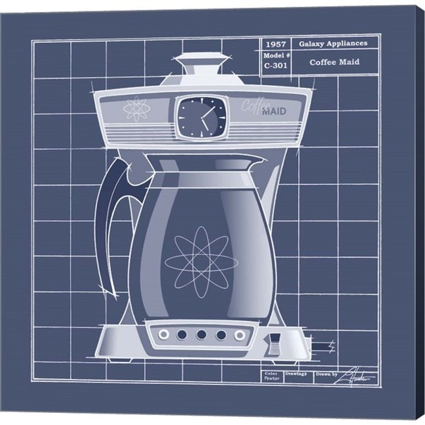 Larry hunter galaxy coffeemaid blueprint canvas art free larry hunter galaxy coffeemaid blueprint canvas art free shipping today overstock 22658121 malvernweather Images