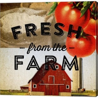 Dallas Drotz 'Fresh From The Farm' Canvas Art