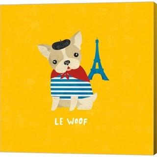 Moira Hershey 'Good Dogs French Bulldog Bright' Canvas Art