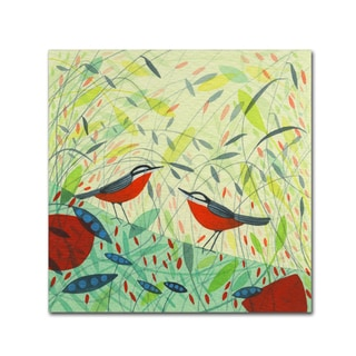 Michelle Campbell 'Nuthatches' Canvas Art