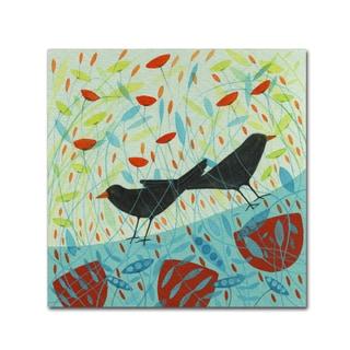 Michelle Campbell 'Blackbirds' Canvas Art