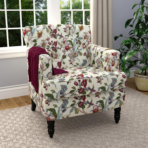 Shop Handy Living Simona Multi Floral Linen Arm Chair