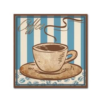 Masters Fine Art 'Coffee Blue' Canvas Art